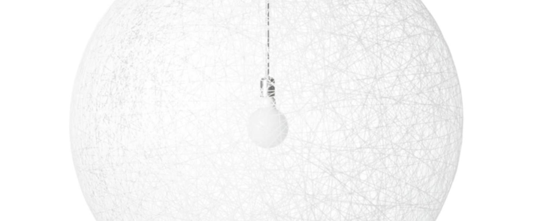 Suspension random light led s blanc led o50cm h50cm moooi normal