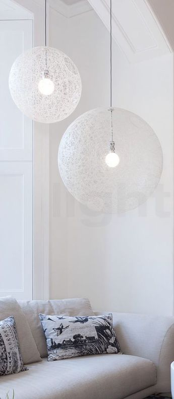 Suspension random light led s blanc led o50cm h50cm moooi normal