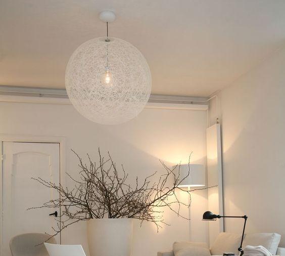 suspension random light m blanc 80cm h80cm moooi luminaires nedgis. Black Bedroom Furniture Sets. Home Design Ideas