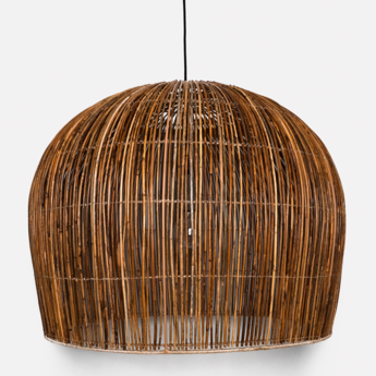 Suspension rattan bell l naturel o76cm h66cm ay illuminate normal