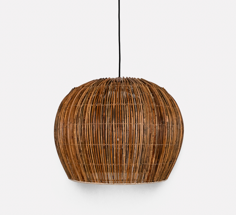 Rattan bell s ay lin heinen et nelson sepulveda suspension pendant light  ay illuminate 640 101 01 p   design signed 37009 product
