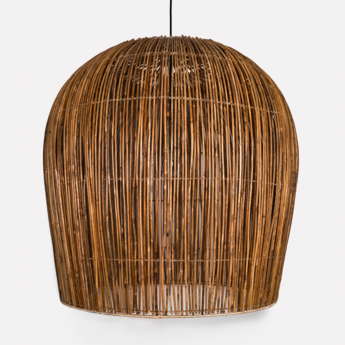 Suspension rattan bulb l naturel o79cm h92cm ay illuminate normal
