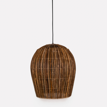 Suspension rattan bulb s naturel o60cm h46cm ay illuminate normal