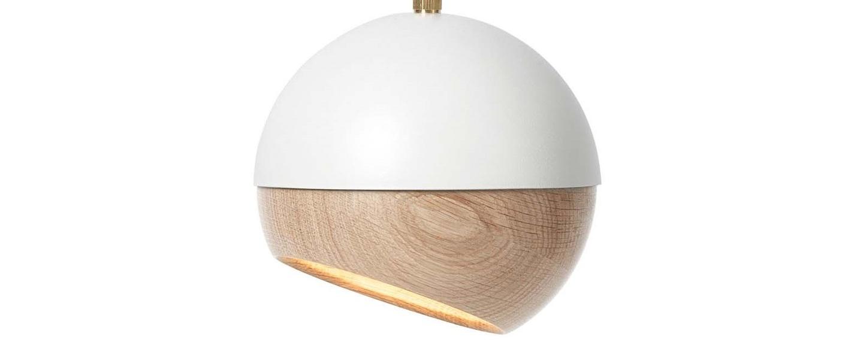 Suspension ray m bois chene metal blanc o15 3cm h15 3cm mater normal