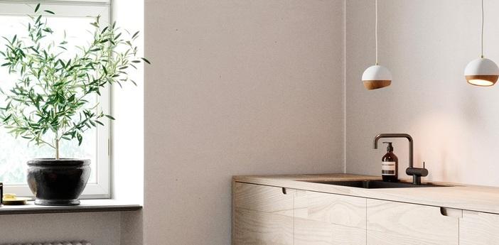 Suspension ray s bois chene metal blanc o11 9cm h11 9cm mater normal