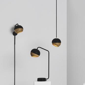 Suspension ray s bois chene metal noir o11 9cm h11 9cm mater normal