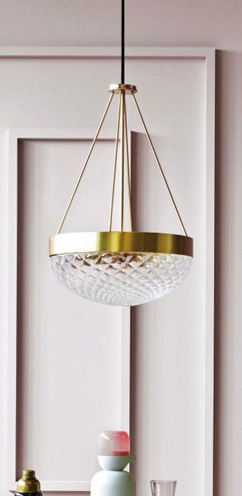 Suspension rays laiton satine verre h65cm o42cm mm lampadari normal