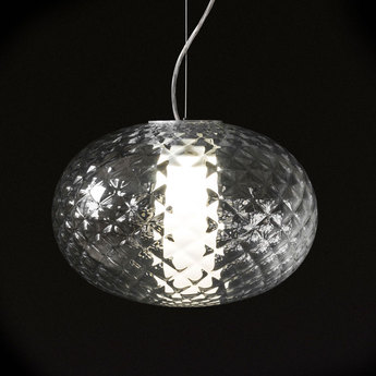 Suspension recuerdo 484 aluminium transparent led o32cm h22cm oluce normal