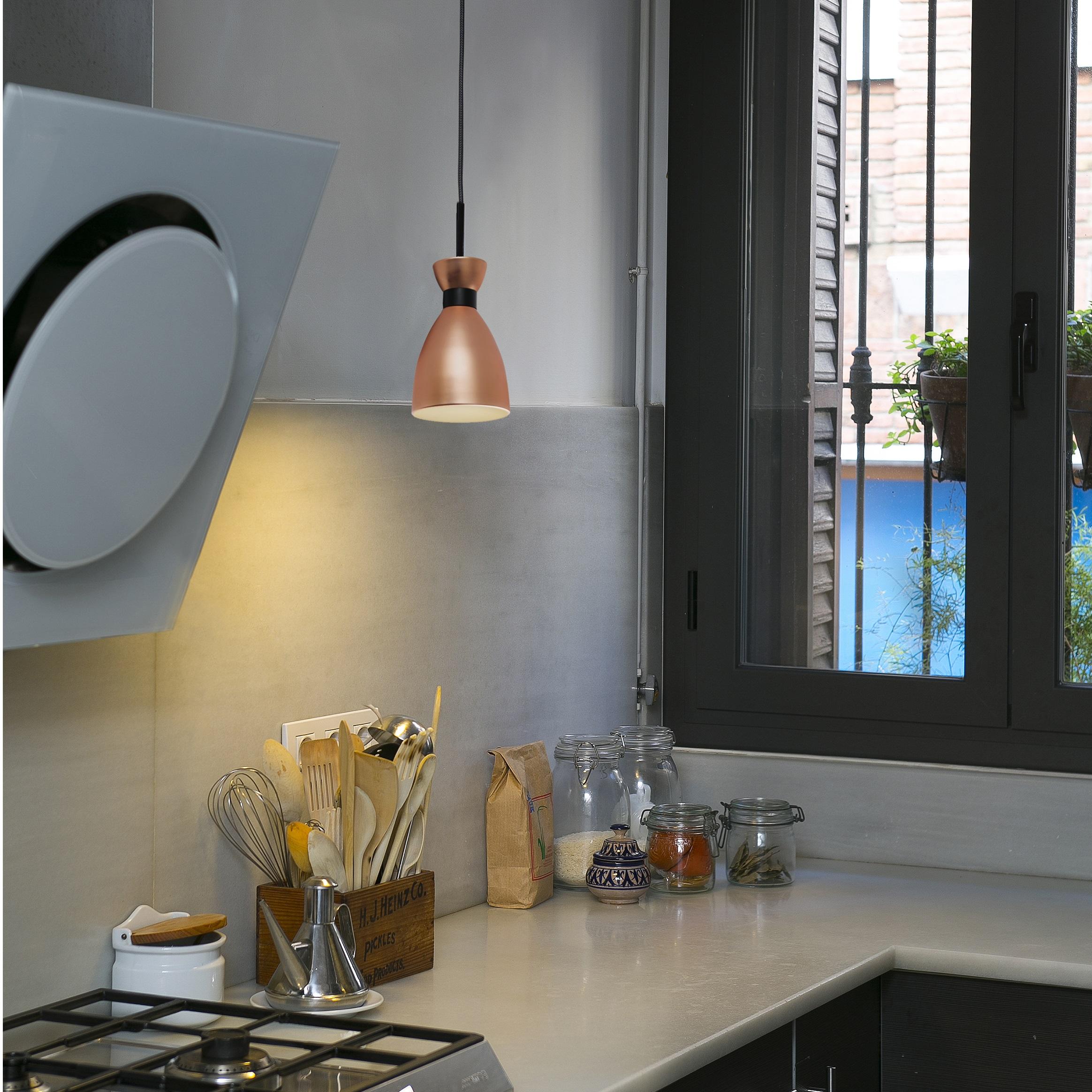 suspension retro cuivre h12cm faro luminaires nedgis. Black Bedroom Furniture Sets. Home Design Ideas