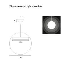 Reveal silje nesdal suspension pendant light  nothern lighting 190  design signed nedgis 63470 thumb