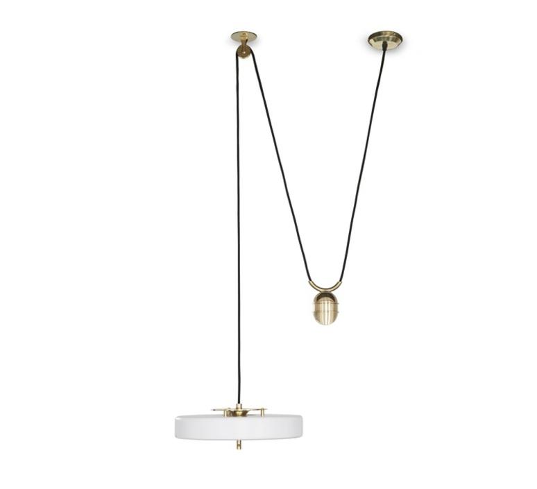 Revolve   suspension pendant light  bert frank revolve rise and fall pendant lamp white  design signed 36057 product