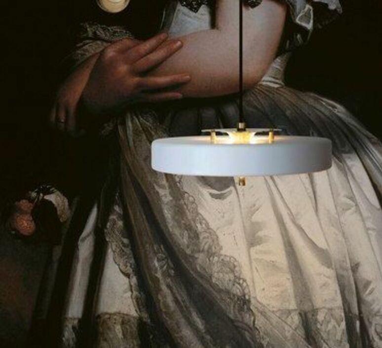 Revolve  suspension pendant light  bert frank revolve pendant lamp white  design signed 94410 product