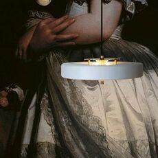 Revolve  suspension pendant light  bert frank revolve pendant lamp white  design signed 94410 thumb