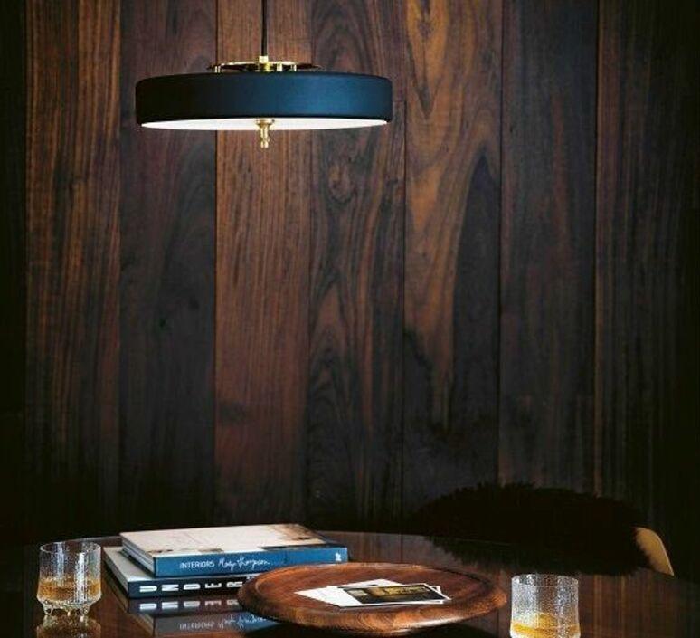Revolve  suspension pendant light  bert frank revolve pendant lamp blue  design signed 94409 product