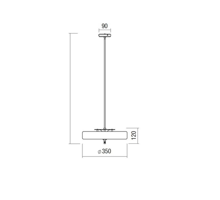 Revolve  suspension pendant light  bert frank revolve pendant lamp black  design signed 36040 product