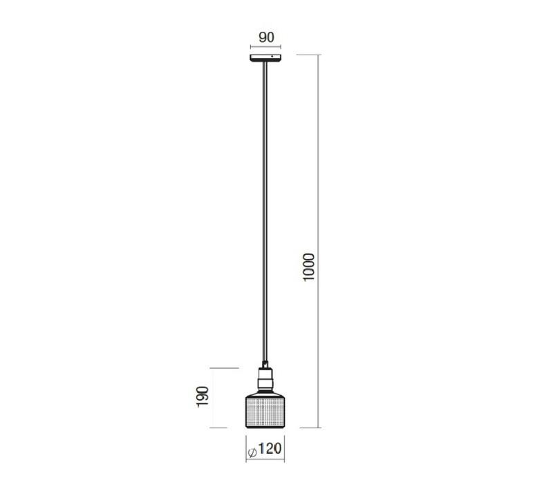 Riddle robbie llewellyn et adam yeats suspension pendant light  bert frank riddle pl br wh  design signed nedgis 75315 product