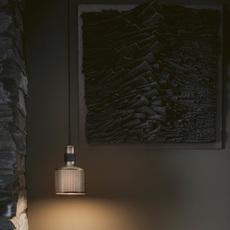 Riddle  suspension pendant light  bert frank riddle pendant lamp brass black  design signed 36077 thumb