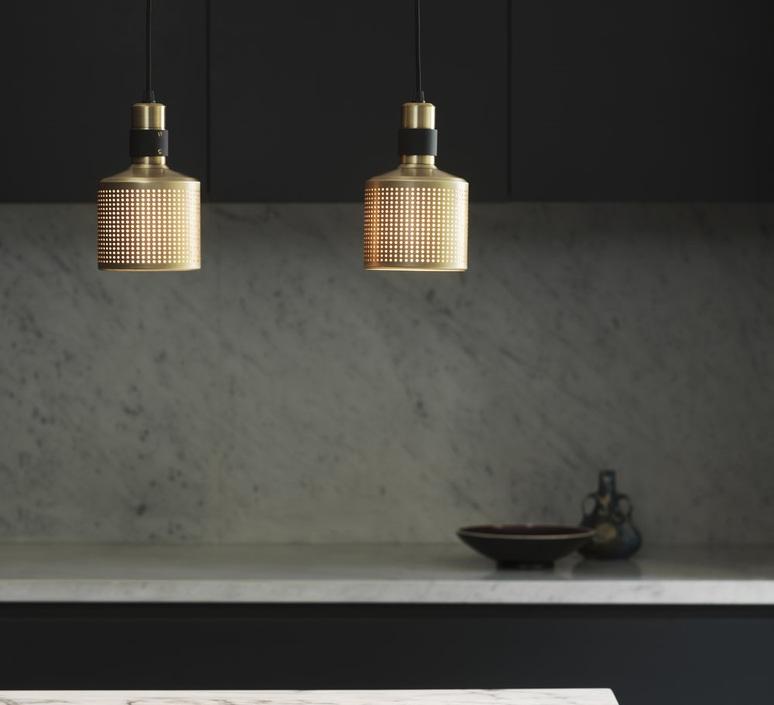 Riddle  suspension pendant light  bert frank riddle pendant lamp brass black  design signed 75285 product