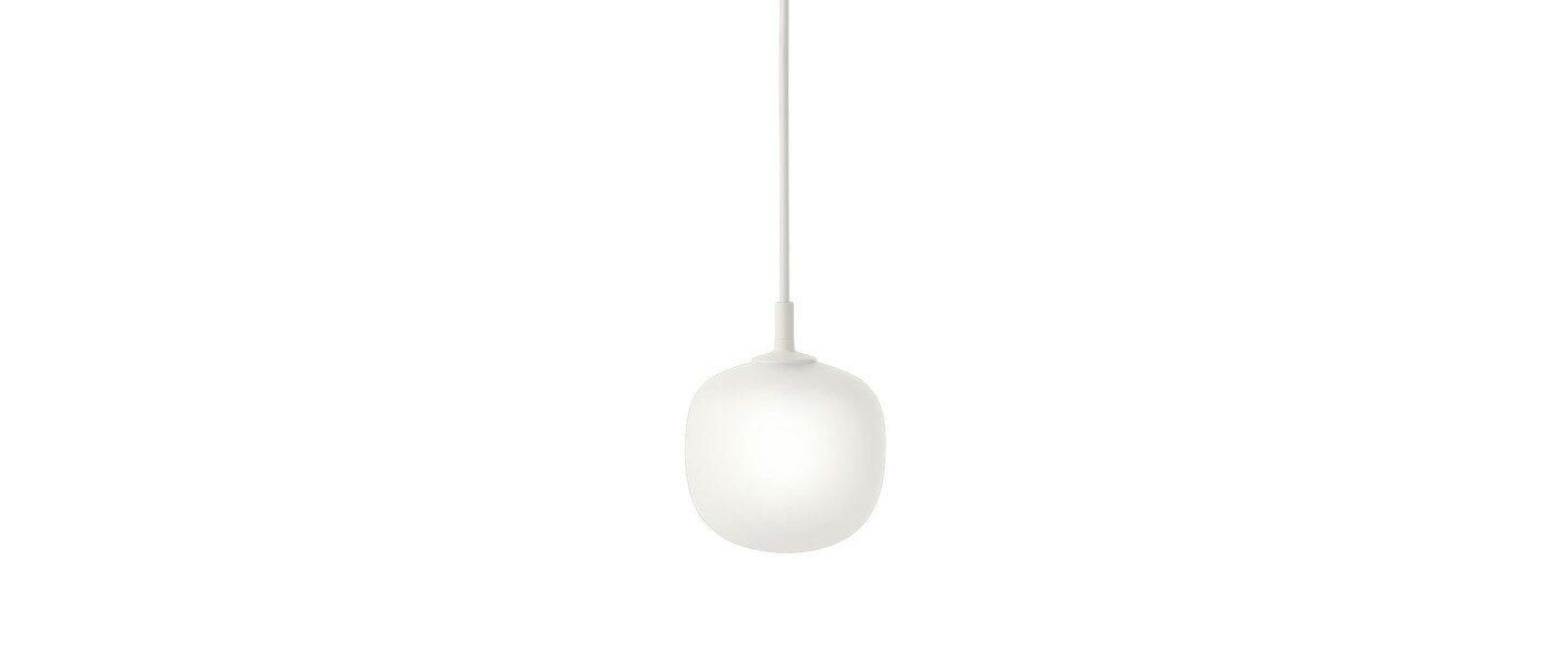 Suspension rime blanc opalin o12cm h15cm muuto normal