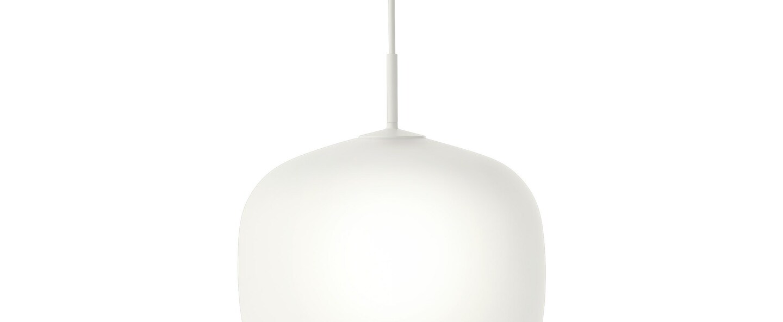 Suspension rime blanc opalin o37cm h45 5cm muuto normal