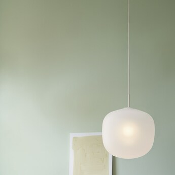 Suspension rime blanc opalin o45cm h55 5cm muuto normal