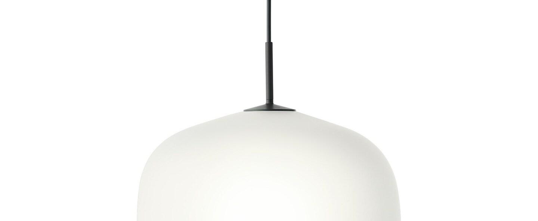 Suspension rime noir opalin o45cm h55 5cm muuto normal