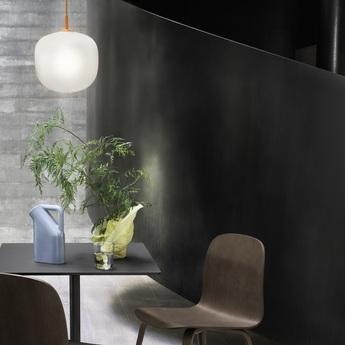 Suspension rime orange opalin o25cm h30cm muuto normal