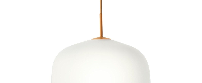 Suspension rime orange opalin o45cm h55 5cm muuto normal