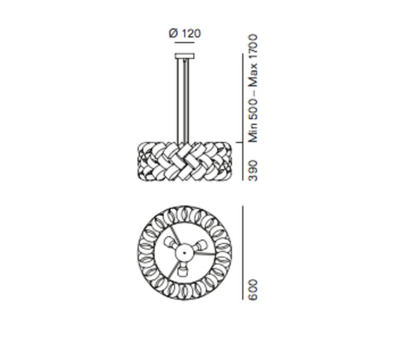 Ring 600 brian rasmussen suspension pendant light  palluco rings120462  design signed 47847 product