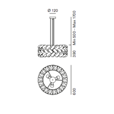 Ring 600 brian rasmussen suspension pendant light  palluco rings120462  design signed 47847 thumb
