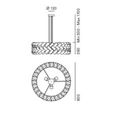 Ring 800 brian rasmussen suspension pendant light  palluco rings220462  design signed 47856 thumb