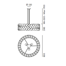 Ring 800 brian rasmussen suspension pendant light  palluco rings220468  design signed 47860 thumb