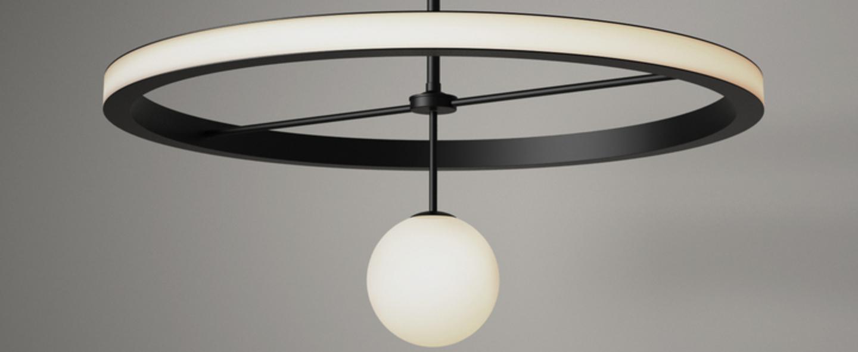 Suspension ring noir et blanc o5cm h15 5cm atelier areti normal