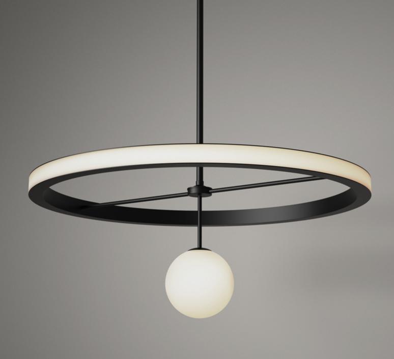 Ring gwendolyn et guillane kerschbaumer suspension pendant light  areti ring noir et blanc  design signed nedgis 64222 product