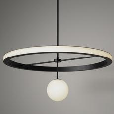 Ring gwendolyn et guillane kerschbaumer suspension pendant light  areti ring noir et blanc  design signed nedgis 64222 thumb
