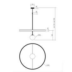 Ring gwendolyn et guillane kerschbaumer suspension pendant light  areti ring noir et blanc  design signed nedgis 64603 thumb