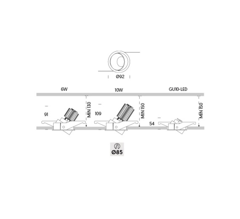 Ringo tilt 1 adjust gu10 onok suspension pendant light  onok rt01e10xxxxwg  design signed nedgis 88632 product