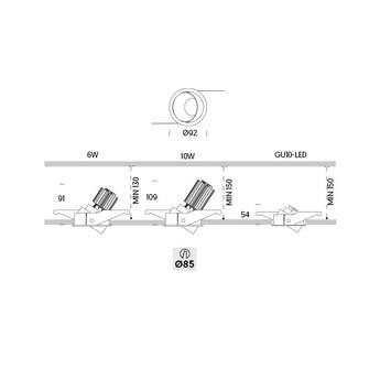 Suspension ringo tilt 1 adjust gu10 blanc or o8 5cm h15cm onok normal