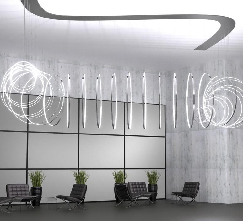 Rings valerio cometti zava rings d50cm jet black 9005 luminaire lighting design signed 66174 product