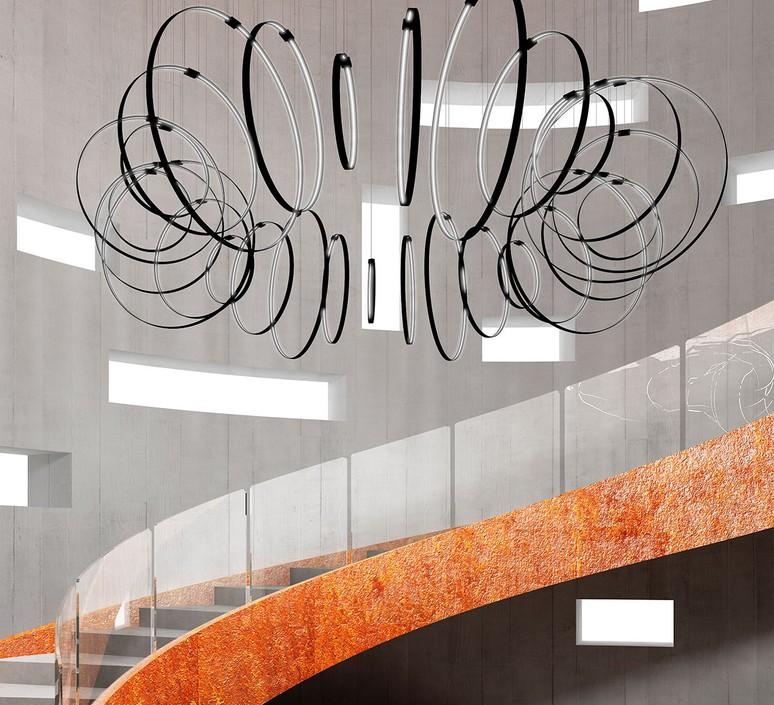 Rings valerio cometti zava rings d50cm jet black 9005 luminaire lighting design signed 66197 product