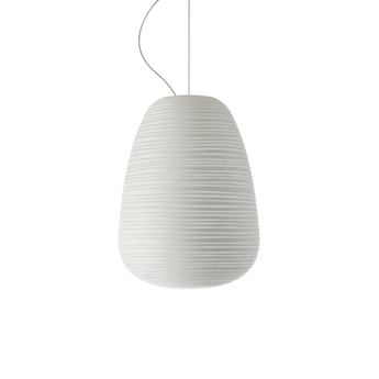 Suspension rituals 1 blanc o24cm h34cm foscarini normal