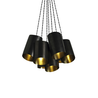 Suspension rollo cluster 10 bronze laiton l48cm h54cm cto lighting normal