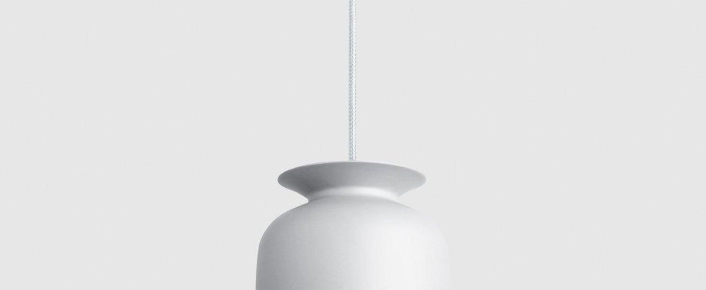 Suspension ronde 20 blanc mat o20cm h24cm gubi normal