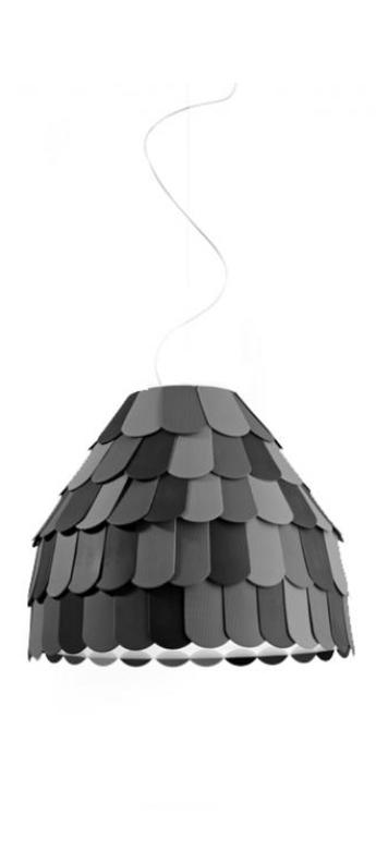 Suspension roofer anthracite l57cm h47cm fabbian normal