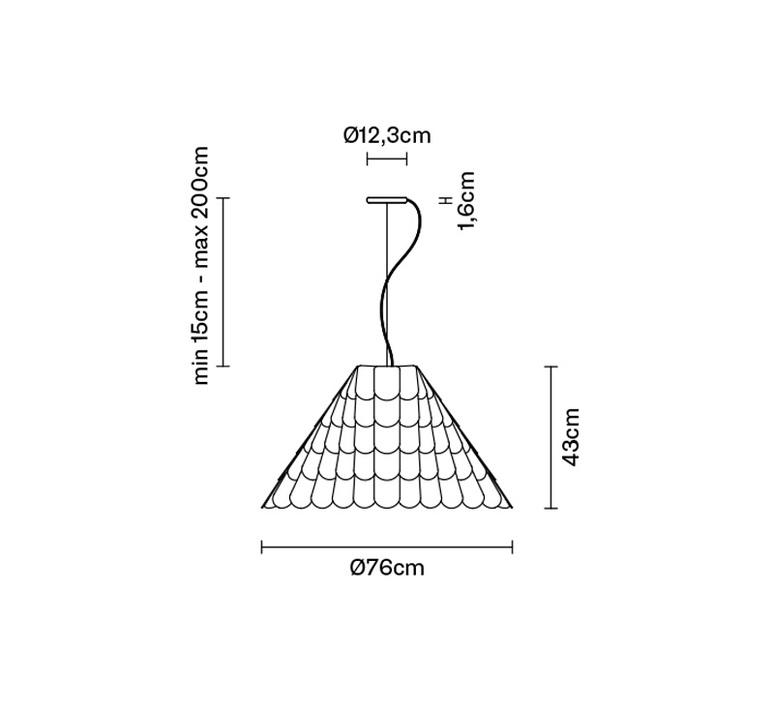 Roofer f12 high benjamin hubert suspension pendant light  fabbian f12a03 21  design signed 40023 product