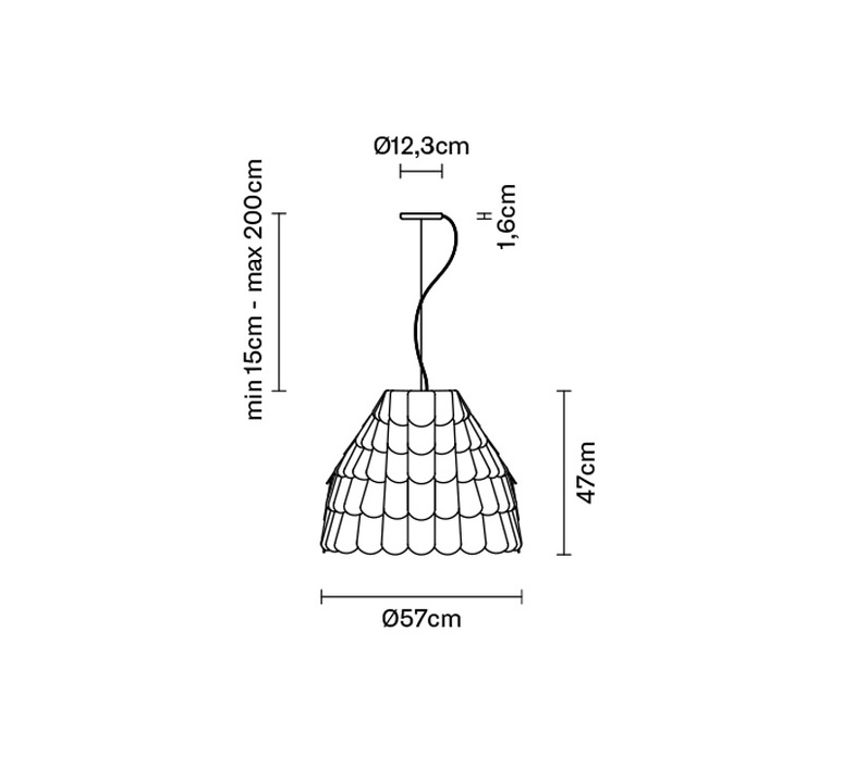 Roofer f12 high benjamin hubert suspension pendant light  fabbian f12a01 01  design signed 40025 product