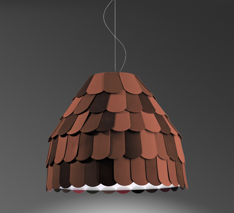 Roofer f12 high benjamin hubert suspension pendant light  fabbian f12a01 32  design signed 40027 product
