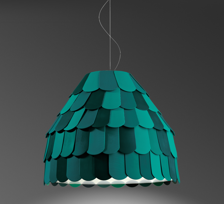 Roofer f12 high benjamin hubert suspension pendant light  fabbian f12a01 43  design signed 40030 product