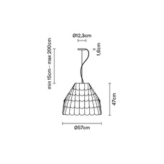 Roofer f12 high benjamin hubert suspension pendant light  fabbian f12a01 43  design signed 40031 thumb