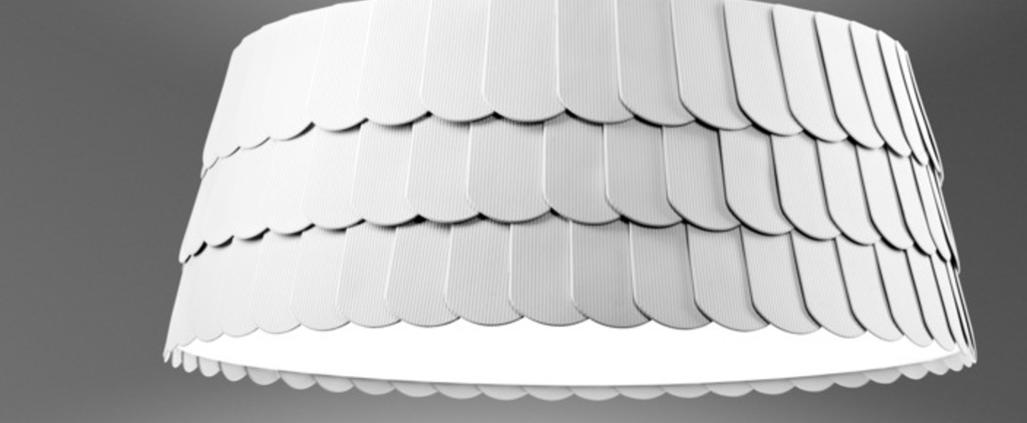 Suspension roofer f12 low blanc o79cm h32cm fabbian normal